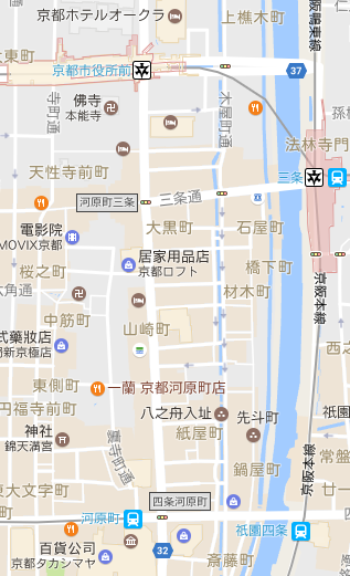 Kyoto - Gion :map
